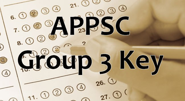 APPSC Group 3 Mains Answer key 2017 Download (Official) – SET
